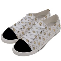 Flower Leaf Gold Women s Low Top Canvas Sneakers by Mariart