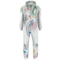 Flower Rainbow Circle Polka Leaf Sexy Hooded Jumpsuit (men)  by Mariart