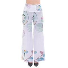 Flower Rainbow Circle Polka Leaf Sexy Pants by Mariart