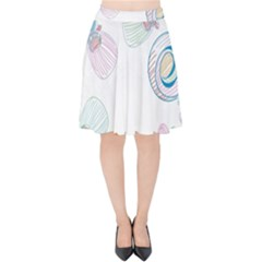 Flower Rainbow Circle Polka Leaf Sexy Velvet High Waist Skirt by Mariart