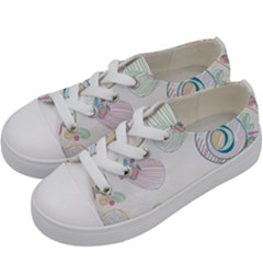 Flower Rainbow Circle Polka Leaf Sexy Kids  Low Top Canvas Sneakers by Mariart