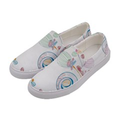 Flower Rainbow Circle Polka Leaf Sexy Women s Canvas Slip Ons by Mariart