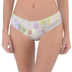 Flower Rainbow Star Floral Sexy Purple Green Yellow White Rose Reversible Classic Bikini Bottoms by Mariart