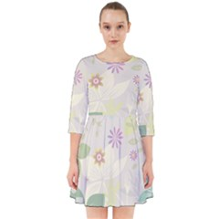 Flower Rainbow Star Floral Sexy Purple Green Yellow White Rose Smock Dress by Mariart