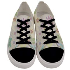 Flower Rainbow Star Floral Sexy Purple Green Yellow White Rose Men s Low Top Canvas Sneakers