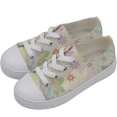 Flower Rainbow Star Floral Sexy Purple Green Yellow White Rose Kids  Low Top Canvas Sneakers by Mariart