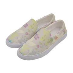 Flower Rainbow Star Floral Sexy Purple Green Yellow White Rose Women s Canvas Slip Ons by Mariart