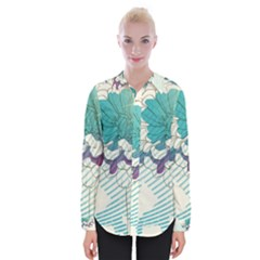 Flower Rose Purple Sunflower Lotus Womens Long Sleeve Shirt by Mariart