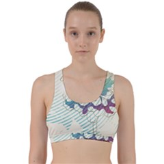 Flower Rose Purple Sunflower Lotus Back Weave Sports Bra