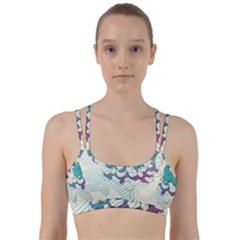 Flower Rose Purple Sunflower Lotus Line Them Up Sports Bra