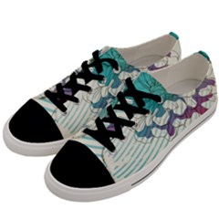 Flower Rose Purple Sunflower Lotus Men s Low Top Canvas Sneakers by Mariart