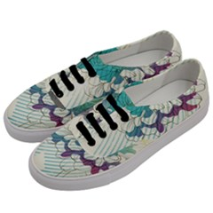 Flower Rose Purple Sunflower Lotus Men s Classic Low Top Sneakers by Mariart
