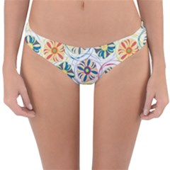Flower Rainbow Fan Sunflower Circle Sexy Reversible Hipster Bikini Bottoms by Mariart