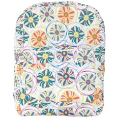 Flower Rainbow Fan Sunflower Circle Sexy Full Print Backpack