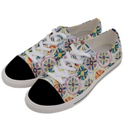 Flower Rainbow Fan Sunflower Circle Sexy Women s Low Top Canvas Sneakers by Mariart