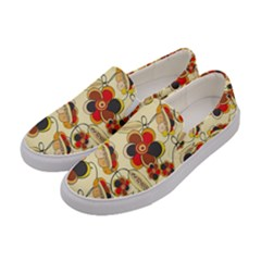 Flower Seed Rainbow Rose Women s Canvas Slip Ons by Mariart