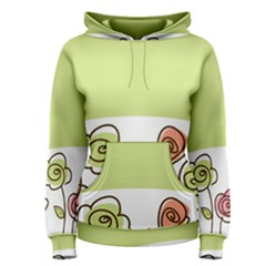 Flower Simple Green Rose Sunflower Sexy Women s Pullover Hoodie by Mariart