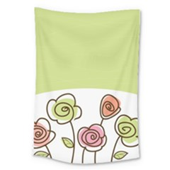 Flower Simple Green Rose Sunflower Sexy Large Tapestry