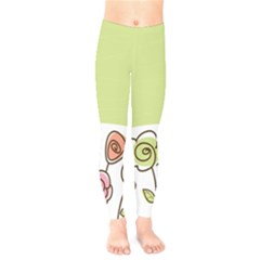 Flower Simple Green Rose Sunflower Sexy Kids  Legging by Mariart