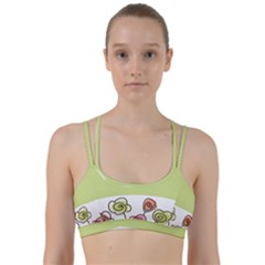 Flower Simple Green Rose Sunflower Sexy Line Them Up Sports Bra