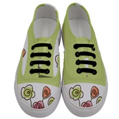 Flower Simple Green Rose Sunflower Sexy Men s Classic Low Top Sneakers