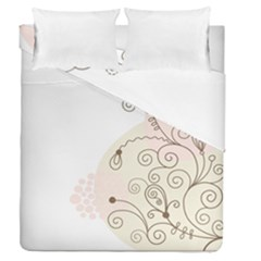 Flower Simple Pink Duvet Cover Double Side (queen Size) by Mariart