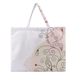 Flower Simple Pink Zipper Large Tote Bag by Mariart