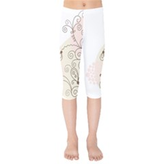 Flower Simple Pink Kids  Capri Leggings  by Mariart