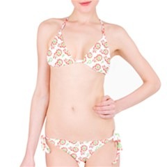 Flower Rose Red Green Sunflower Star Bikini Set