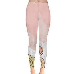 Flower Sunflower Wave Waves Pink Leggings  by Mariart