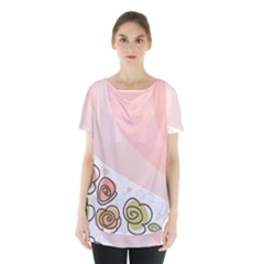 Flower Sunflower Wave Waves Pink Skirt Hem Sports Top by Mariart