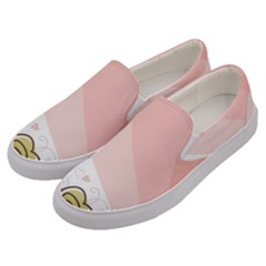 Flower Sunflower Wave Waves Pink Men s Canvas Slip Ons by Mariart