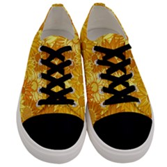 Flower Sunflower Floral Beauty Sexy Men s Low Top Canvas Sneakers