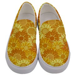 Flower Sunflower Floral Beauty Sexy Men s Canvas Slip Ons