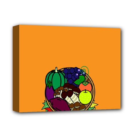Healthy Vegetables Food Deluxe Canvas 14  X 11  by Mariart