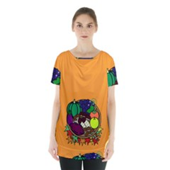 Healthy Vegetables Food Skirt Hem Sports Top