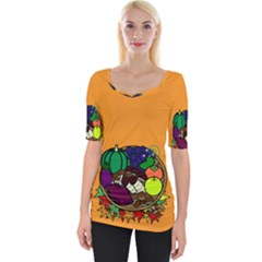 Healthy Vegetables Food Wide Neckline Tee by Mariart