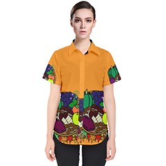 Healthy Vegetables Food Women s Short Sleeve Shirt