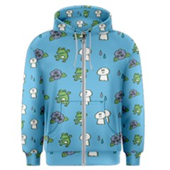 Frog Ghost Rain Flower Green Animals Men s Zipper Hoodie