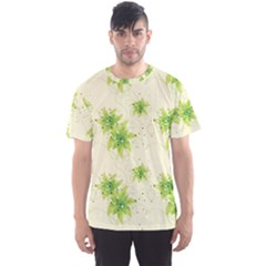 Leaf Green Star Beauty Men s Sports Mesh Tee by Mariart
