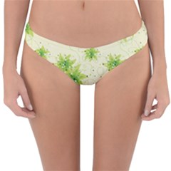 Leaf Green Star Beauty Reversible Hipster Bikini Bottoms by Mariart