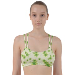 Leaf Green Star Beauty Line Them Up Sports Bra