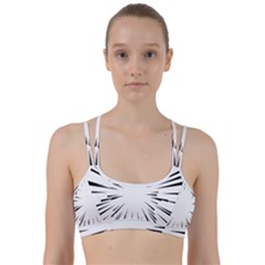Line Black Sun Arrow Line Them Up Sports Bra