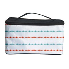 Line Polka Dots Blue Red Sexy Cosmetic Storage Case by Mariart