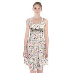 Flower Star Rose Sunflower Rainbow Smal Racerback Midi Dress by Mariart