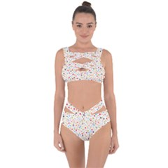 Flower Star Rose Sunflower Rainbow Smal Bandaged Up Bikini Set  by Mariart