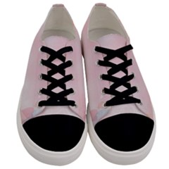 Love Heart Pink Valentine Flower Leaf Men s Low Top Canvas Sneakers