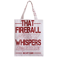Fireball Whiskey Humor  Zipper Classic Tote Bag by crcustomgifts