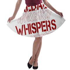 Fireball Whiskey Humor  A Line Skater Skirt by crcustomgifts