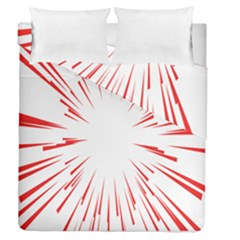 Line Red Sun Arrow Duvet Cover Double Side (queen Size) by Mariart
